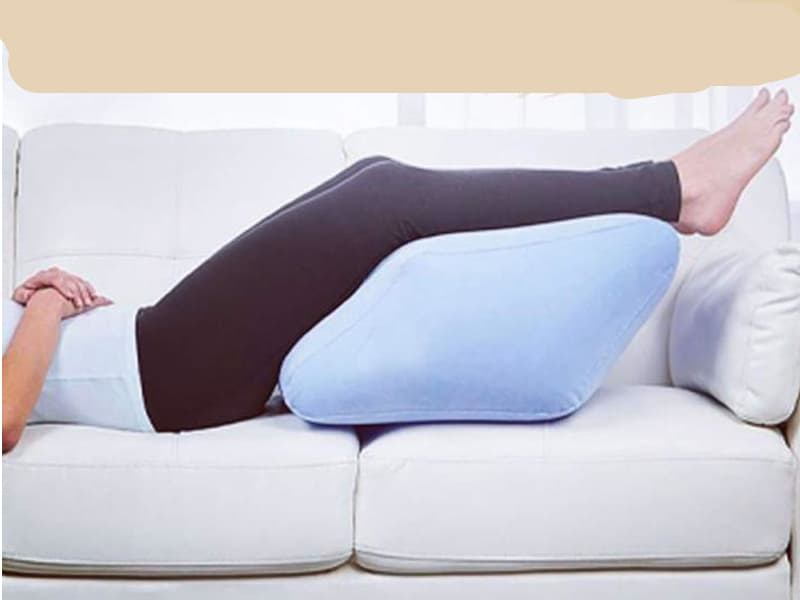 A person sitting on a sofa